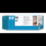 HP 90 Cyan DesignJet Druckkopf und Druckkopfreiniger