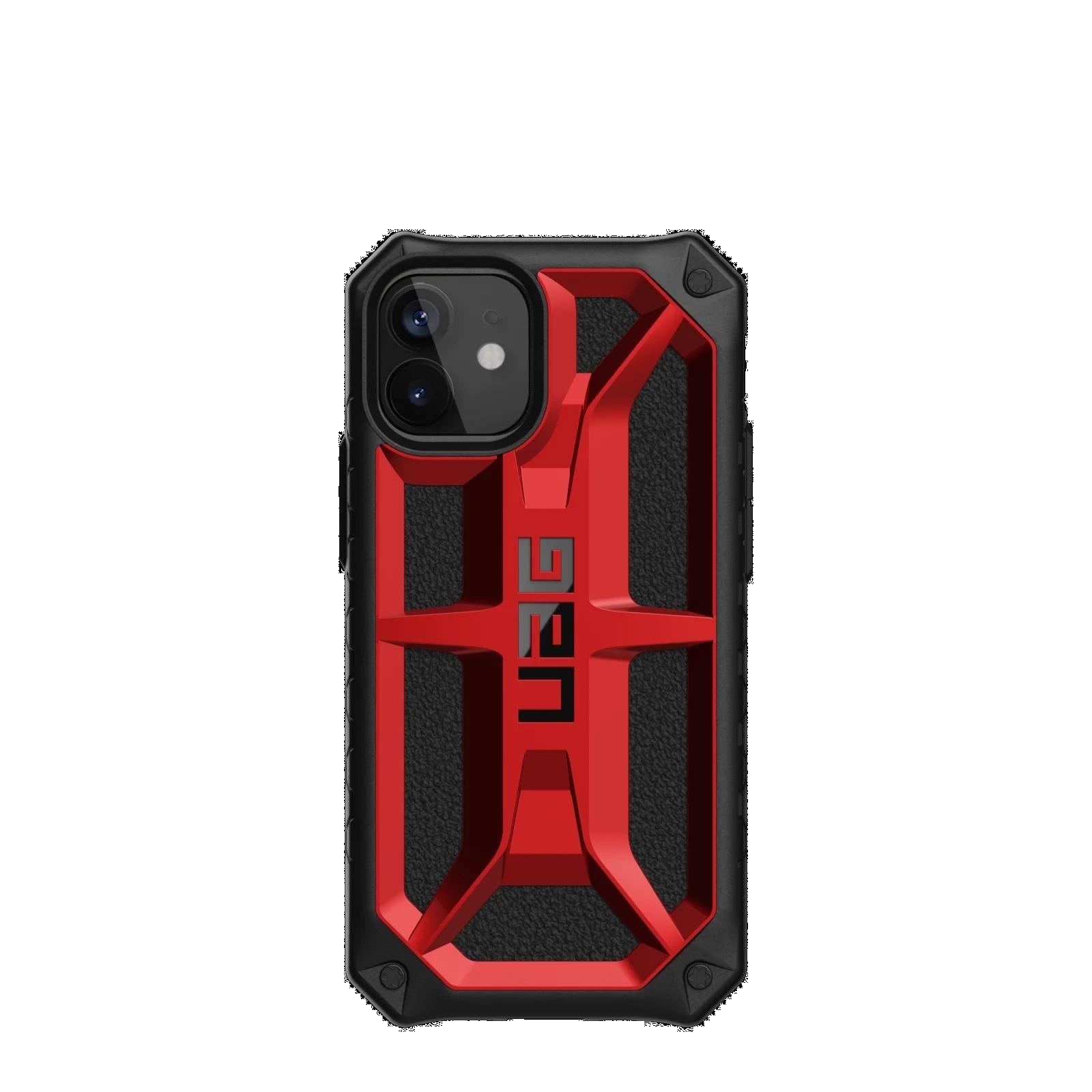 "Urban Armor Gear Monarch funda para teléfono móvil 13,7 cm (5.4"") Negro, Rojo"