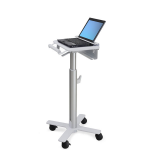 Ergotron StyleView Laptop Cart, SV10 Aluminium, Wit Notebook Multimediawagentje