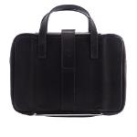 "R-Go Tools R-Go Viva 15.6"" Laptopbag, Full Grain Leather (LWG Certified), Integrated Laptop Stand, Shoulder Strap, Black"