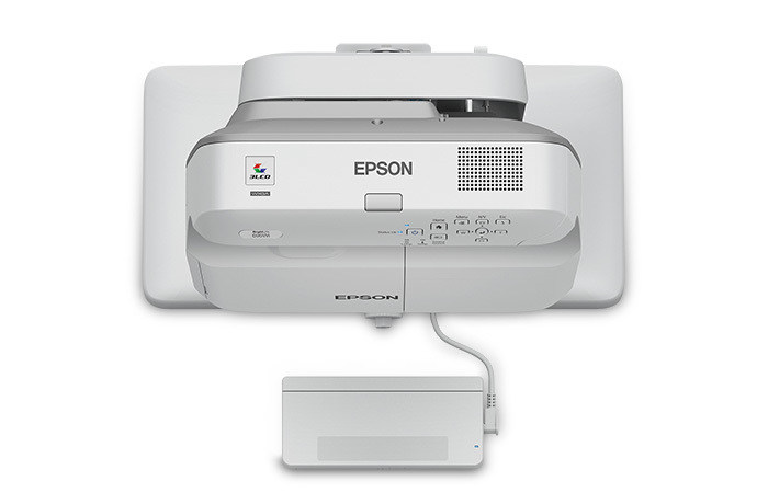Epson BrightLink 695Wi Wall-mounted projector 3500ANSI lumens 3LCD WXGA (1280x800) Grey,White data projector