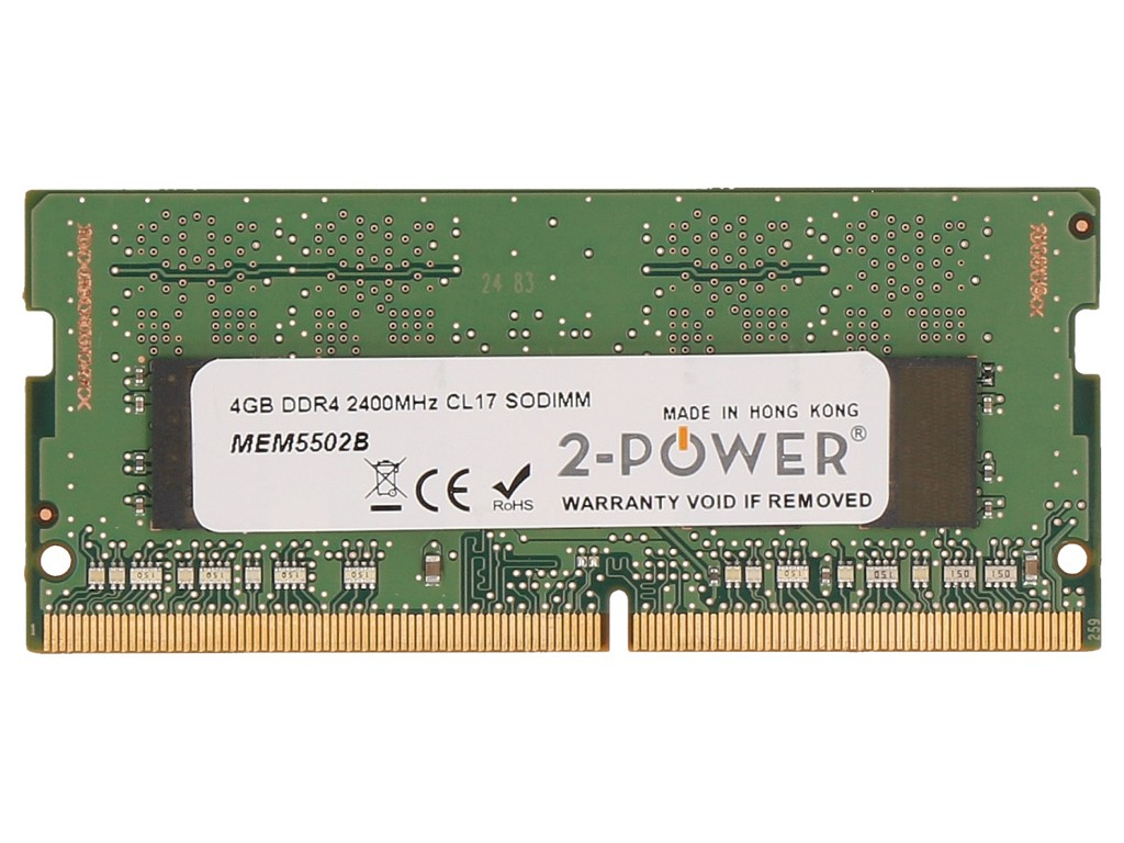 2-Power 4GB DDR4 2400MHz CL17 SODIMM Memory - replaces KCP424SS6/4