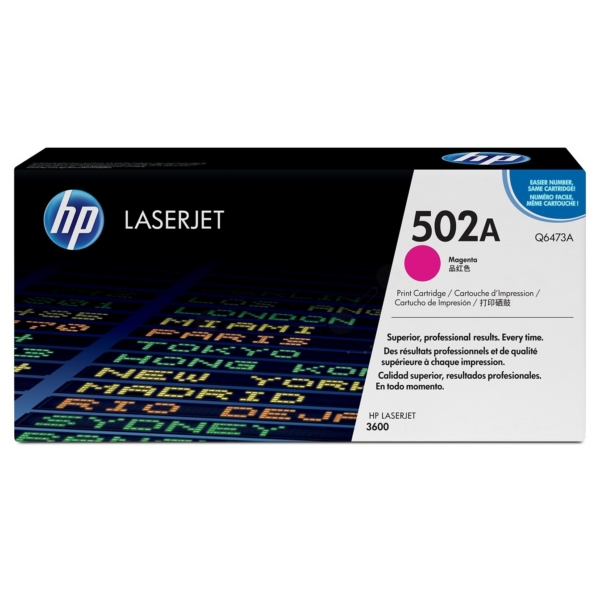 HP Q6473A (502A) Toner magenta, 4K pages @ 5% coverage