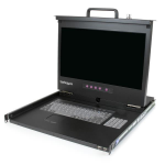 "StarTech.com 1U 17"" HD 1080p Rackmount LCD Console with Front USB Hub"