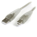 StarTech.com 10 ft Transparent USB 2.0 Cable - A to B