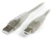 StarTech.com 10 ft Transparent USB 2.0 Cable - A to B