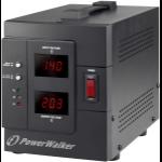 PowerWalker AVR 2000/SIV 2AC outlet(s) 230V Black voltage regulator