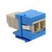 Tripp Lite Duplex Multimode Fiber Coupler, Keystone Jack - LC to LC, Blue