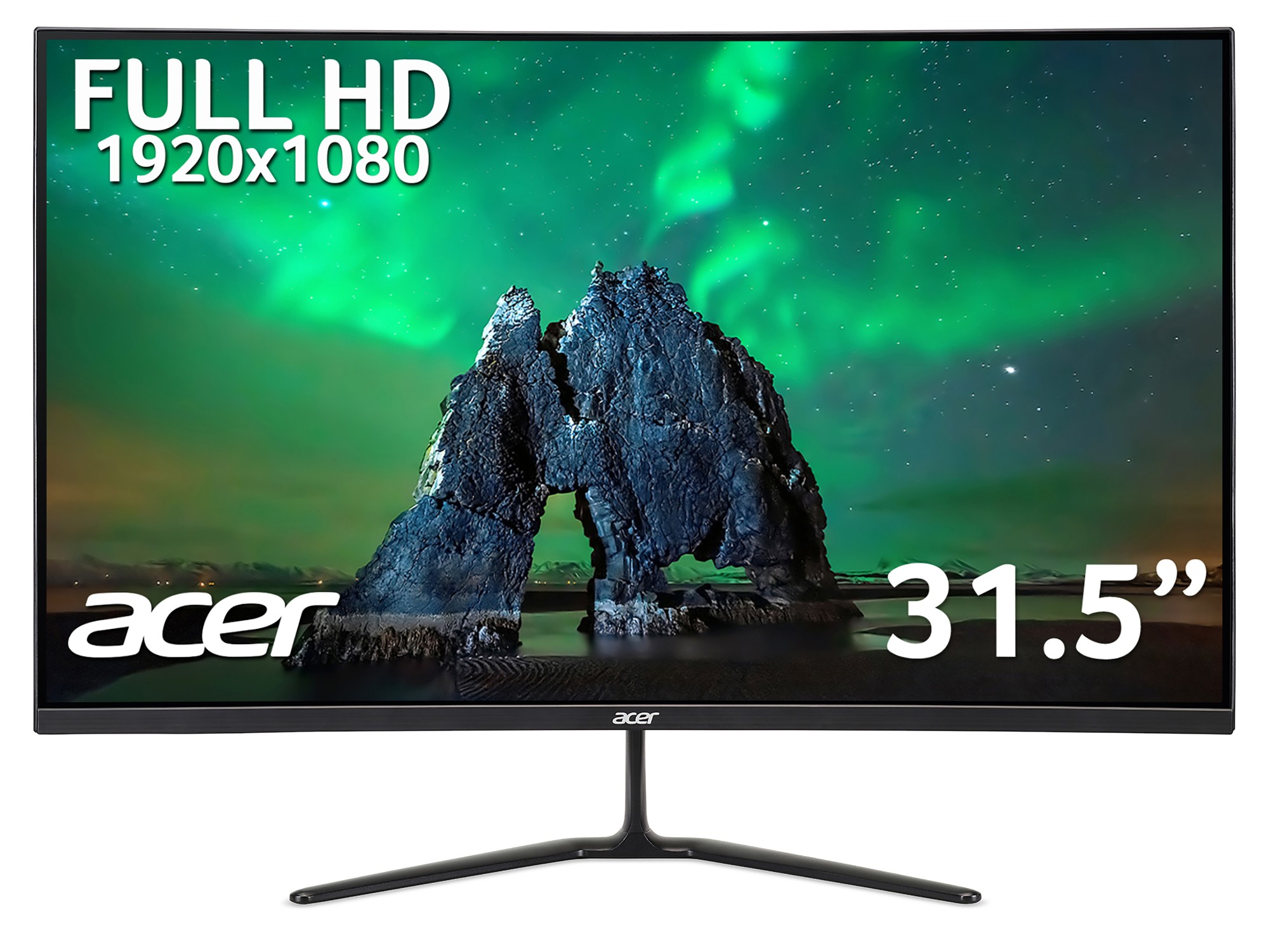 Acer ED0 ED320QRPbiipx 31.5 inch FHD Curved Monitor (VA Panel, FreeSync, 165Hz, 5ms, DP, HDMI, Black)