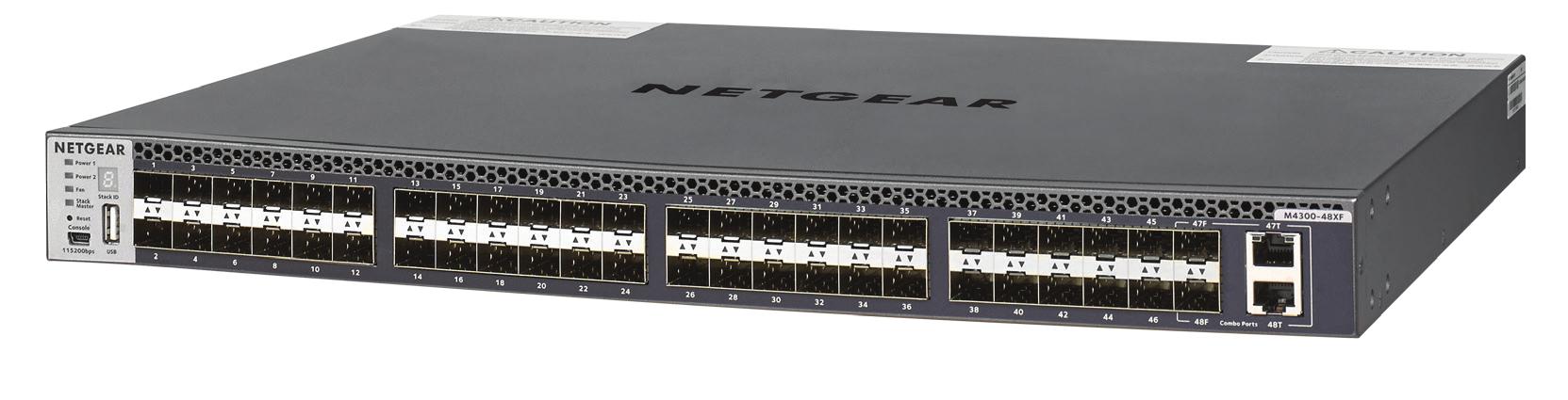 Netgear M4300-48XF Managed L3 10G Ethernet (100/1000/10000) Black