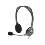 Logitech H110 Binaural Head-band Black,Silver headset