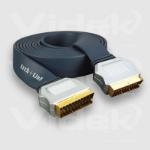 Videk Scart Plug to Scart Plug Gold 0.5m 0.5m SCART (21-pin) SCART (21-pin) Black SCART cable