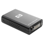 HP USB to DVI Graphics Adapter - Black (NL571AA)