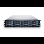 SANS DIGITAL EliteSTOR ES212X12 Rack (2U) Black disk array