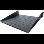 """Intellinet 19"""" Cantilever Shelf, 2U, 2-Point Front Mount, 400mm Depth, Vented, Black"""