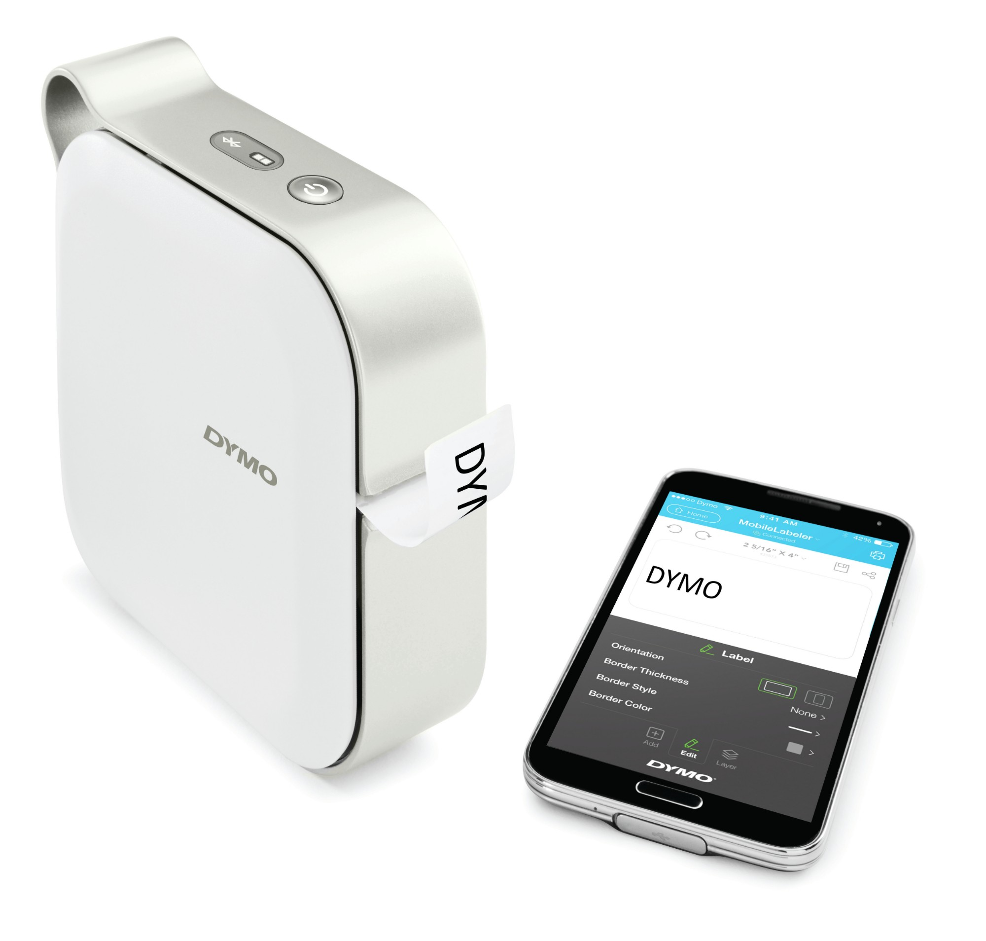 DYMO MobileLabeler - Label printer - thermal transfer - Roll (2.4 cm) - 300 dpi - USB, Bluetooth 2.1