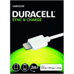 Duracell 2m USB - Lightning 2m USB A Lightning White mobile phone cable