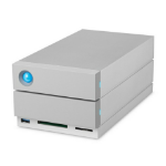 LaCie 2big Dock disk array 36 TB Grey