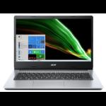 "Acer Aspire 1 A114-33-P3HY Notebook 35.6 cm (14"") 1920 x 1080 pixels Intel® Pentium® Silver 4 GB DDR4-SDRAM 64 GB Flash Wi-Fi 5 (802.11ac) Windows 10 Home S Silver"