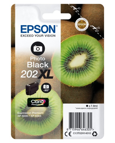 Epson C13T02H14020 (202XL) Ink cartridge bright black, 800 pages, 8ml