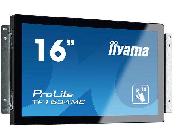 "iiyama ProLite TF1634MC-B6X touch screen monitor 39.6 cm (15.6"") 1366 x 768 pixels Black Multi-touch"