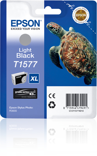 Epson C13T15774010 (T1577) Ink cartridge bright black, 26ml