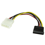 StarTech.com 6in 4 Pin LP4 to SATA Power Cable Adapter