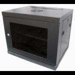 "Eco NetCab 12U 450mm 19"" Data / Comms / Rack Wall Cabinet w/ Shelf - Black"