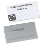 Durable Pin Name Badge 40x75mm 8148 (PK100)
