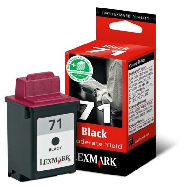 Lexmark 15MX971E (71) Printhead black, 225 pages, 8ml
