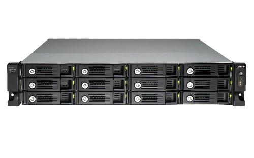 QNAP UX-1200U-RP Rack (2U) Black disk array