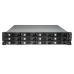 QNAP UX-1200U-RP Rack (2U) Black disk array