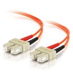 C2G 85305 fiber optic cable 3 m LSZH OM2 SC Orange
