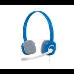 Logitech H150 2x 3.5 mm Binaural Head-band Blue headset
