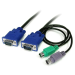 StarTech.com 6 ft 3-in-1 Ultra Thin PS/2 KVM Cable KVM cable
