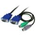 StarTech.com Cable KVM de 1,8m Ultra Delgado Todo en Uno VGA PS/2 PS2 HD15 - 6ft Pies 3 en 1