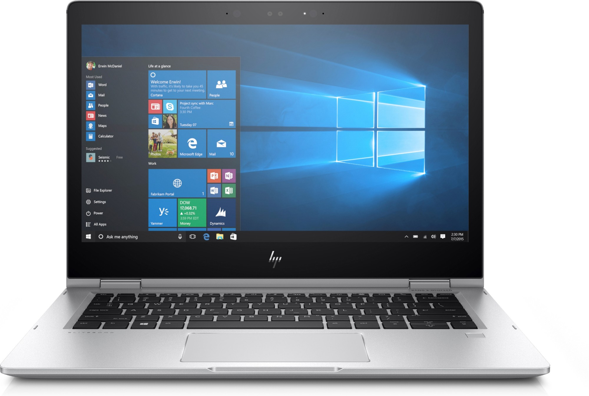 "HP EliteBook x360 1030 G2 Silver Notebook 33.8 cm (13.3"") 1920 x 1080 pixels Touchscreen 7th gen Intel® Core™ i5 8 GB DDR4-SDRAM 256 GB SSD Windows 10 Pro"