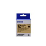 Epson Label Cartridge Satin Ribbon LK-4KBK, zwart/goud 12 mm (5 m)