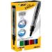 BIC Velleda Liquid Ink Tank Bullet tip Black,Blue,Green,Red 4pc(s) marker