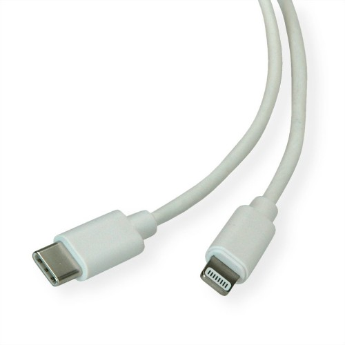 ROLINE 11.02.8323 mobile phone cable White USB C Lightning 1 m