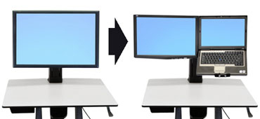 """Ergotron WorkFit Convert-to-LCD & Laptop Kit from Single HD 20"""""""