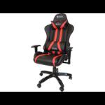 Sandberg Commander Gaming Chair, Tiltable & Height Adjustable, Black & Red, 5 Year Warranty