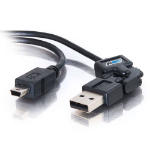 C2G 2m FlexUSB 2.0 A/5-Pin Mini-B Cable 2m USB A Mini-USB B Male Male Black USB cable
