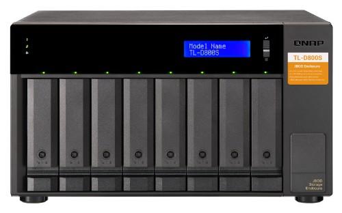 QNAP TL-D800S HDD/SSD enclosure Black 2.5/3.5