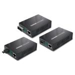 Planet GT-905A network media converter 2000 Mbit/s Single-mode Black