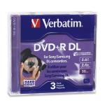 Verbatim Mini DVD+R DL 2.6GB 2.4X Branded 3pk Jewel Case 2.66GB DVD+R DL 3pcs