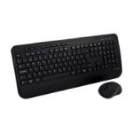 V7 CKW300ES Full Size/Palm Rest Spanish QWERTY - Black, Professional Wireless Keyboard and Mouse Combo ES