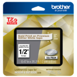 Brother TZEPR234 label-making tape Gold on White TZe