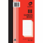 OLYMPIC 605 RECORD BOOK CARBON TRIPLICATE 200 X 125MM FEINT RULED 100 FORMS