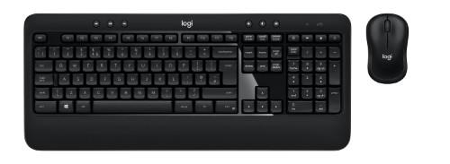 Logitech ADVANCED Combo keyboard RF Wireless QWERTY UK International Black